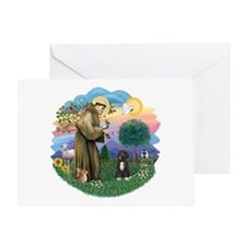 StFrancis2 / PWD-5bw Greeting Card