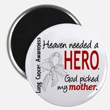 Heaven Needed a Hero Lung Cancer Magnet