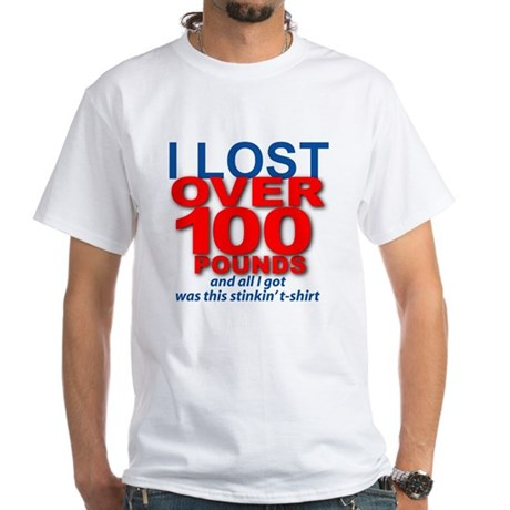 I Lost 100+ White T-Shirt