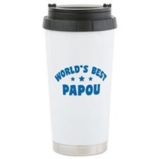 World's Best Greek Papou Travel Mug