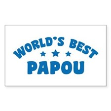 World's Best Greek Papou Decal