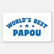 World's Best Greek Papou Decal
