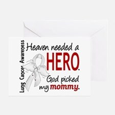 Heaven Needed a Hero Lung Cancer Greeting Card