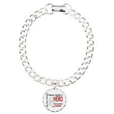 Heaven Needed a Hero Lung Cancer Bracelet