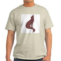 Brown Wolf Ash Grey T-Shirt