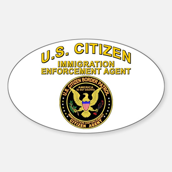 Border Patrol, Citizen Agent Oval Decal