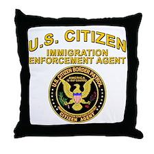 Border Patrol, Citizen Agent  Throw Pillow