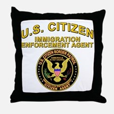 Border Patrol, Citizen Agent  Throw Pillow