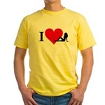 I Love Women Yellow T-Shirt