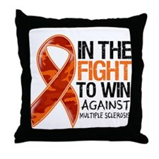Fight Multiple Sclerosis Throw Pillow