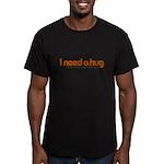 Naughty Hug Men's Fitted T-Shirt (dark)