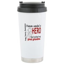 Heaven Needed a Hero Lung Cancer Travel Mug