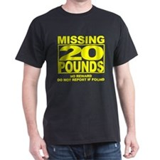 Missing 20 Black T-Shirt