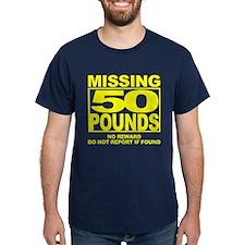 Missing 50 Black T-Shirt