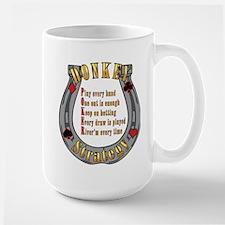 DONKEY POKER STRATEGY Large Mug