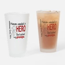 Heaven Needed a Hero Lung Cancer Drinking Glass