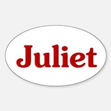 Juliet Oval Decal