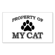 Property of My Cat with 5-Toe Rectangle Decal
