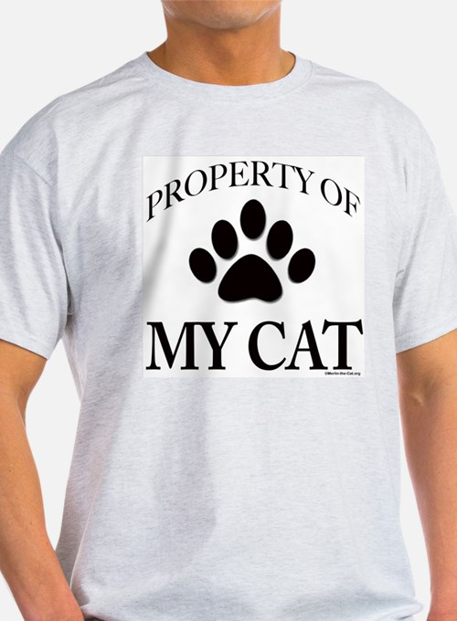 "Merlin ""Property of Cat"" AshGrey T-Shirt"