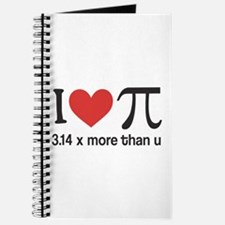 I heart pi 3.14 x more than u Journal