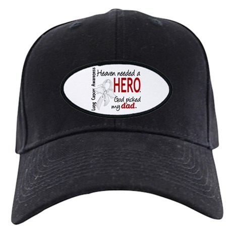 Heaven Needed a Hero Lung Cancer Black Cap