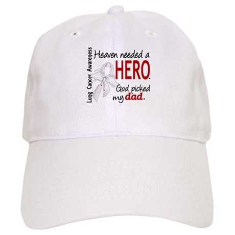 Heaven Needed a Hero Lung Cancer Cap