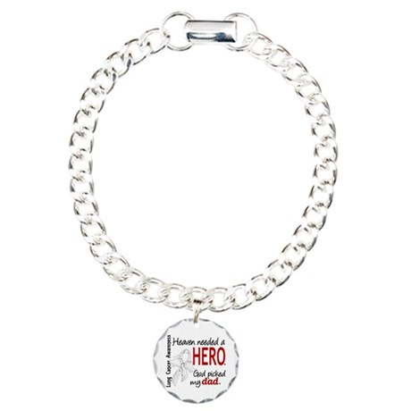 Heaven Needed a Hero Lung Cancer Charm Bracelet, O