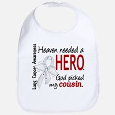Heaven Needed a Hero Lung Cancer Bib
