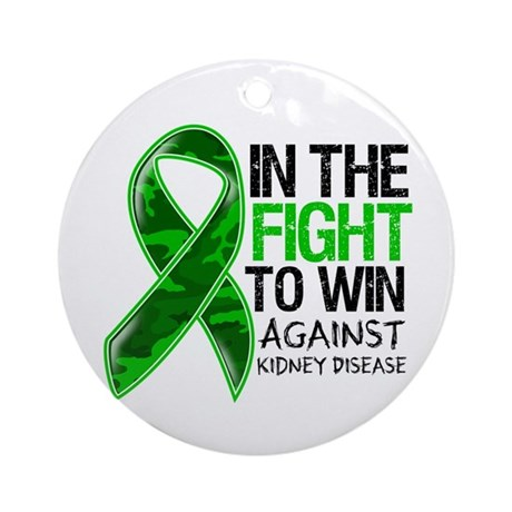 In The Fight Kidney Disease Ornament (Round)