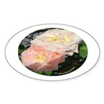 Mama's Two Beautiful Roses Oval Sticker