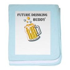 Future Drinking Buddy baby blanket