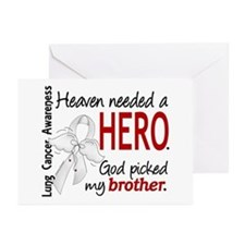 Heaven Needed a Hero Lung Cancer Greeting Cards (P