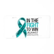 Fight Interstitial Cystitis Aluminum License Plate