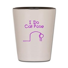 Purple Cat Pose Shot Glass