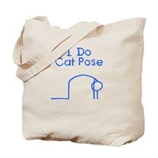 Blue Cat Pose Tote Bag