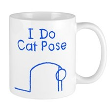 Blue Cat Pose Mug