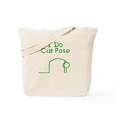 Green Cat Pose Tote Bag