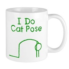 Green Cat Pose Mug