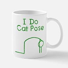 Green Cat Pose Mug
