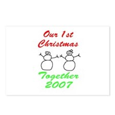 1st Christmas Postcards (Package of 8)