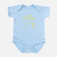 Yellow Cat Pose Infant Bodysuit