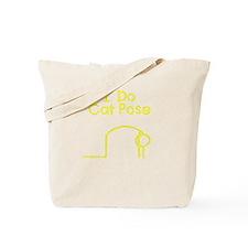 Yellow Cat Pose Tote Bag