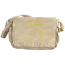 Yellow Cat Pose Messenger Bag