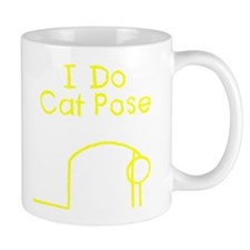 Yellow Cat Pose Mug