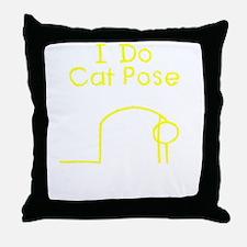 Yellow Cat Pose Throw Pillow