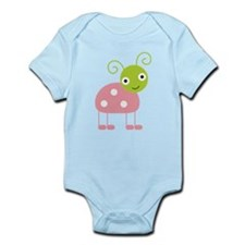 Little Pink and Green Bug Onesie