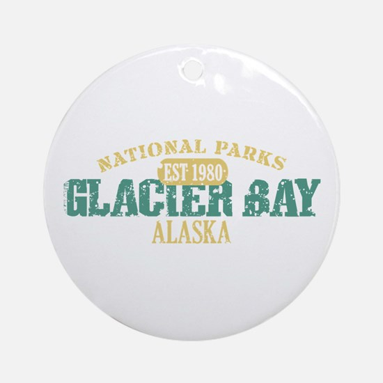 Glacier Bay National Park AK Ornament (Round)