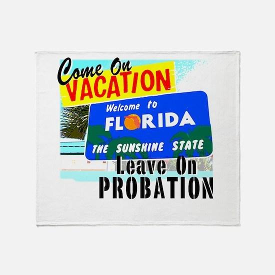 Florida Vacation Throw Blanket
