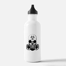 Biohazard Zombie Skull Water Bottle