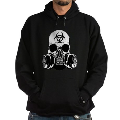 Biohazard Zombie Skull Hoodie (dark)